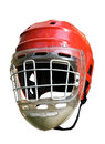 Old hockey helmet Royalty Free Stock Photo