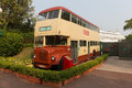 Old hong kong in ocean park double decker bus displayed at the is bringing back the culture of the s s Royalty Free Stock Photography