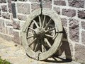 Old horse car wheel Royalty Free Stock Photo