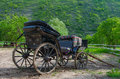 Old horse carriage in moldova Stock Photos