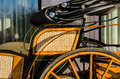 Old horse carriage in the summer daylight Royalty Free Stock Photo
