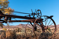 Old horse drawn tractor early from a bygone era Stock Photos