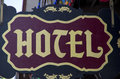 Old hotel sign Royalty Free Stock Photo