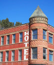 Old hotel with tower Royalty Free Stock Photo