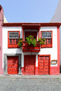 Old house with balcony in santa cruz de la palma canary islands Royalty Free Stock Image