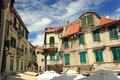 Old house in croatia traditional brick split Royalty Free Stock Image