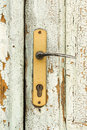 Old house door handle abandoned village Royalty Free Stock Photography