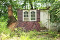 Old house home unoccupied windows resort tree wood wall Stock Photo