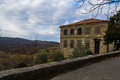 Old house in hum istria croatia with cloudy sky above it photographed at winter day Royalty Free Stock Photography