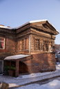 Old house in the Irkutsk city Stock Photos