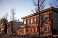 Old house in the Irkutsk city Stock Images