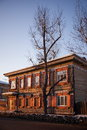 Old house in the Irkutsk city Royalty Free Stock Photo