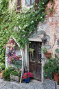 Old house on the lago maggiore detail of an island isola bella in italy Stock Image