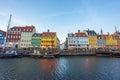 The old house of Nyhavn in Copenhagen, Denmark Royalty Free Stock Photo
