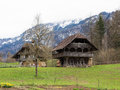 Old house in an open air museum in switzerland Stock Image