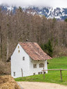 Old house in an open air museum in switzerland Royalty Free Stock Image