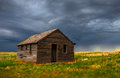 Old house on the plains this is a picture of an historic colorado Royalty Free Stock Images