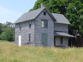Old House in Rural Baraboo, Wisconsin Royalty Free Stock Photo