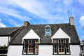 Old house scotland rooftop and windows europe Royalty Free Stock Photo