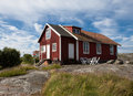 Old house on a swedish island Royalty Free Stock Image