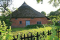 Old house with thatched roof Royalty Free Stock Photo
