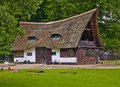 Old house with a thatched roof Royalty Free Stock Photo