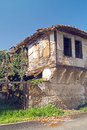 Old house with traditional windows greece Royalty Free Stock Image