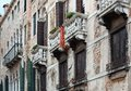 Old house in venice italy detailed view of venetian architecture buildings Royalty Free Stock Images