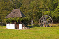 Old house and watermill in open air astra museum sibiu romania Royalty Free Stock Photo