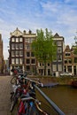 Old houses of Amsterdam, Netherlands Royalty Free Stock Images