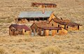 Old houses in bodie state historic park and buildings is a vey well preserved ghost town california usa Royalty Free Stock Photos