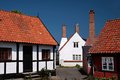 Old houses in gudhjem on bornholm denmark Stock Images