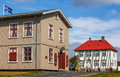 Old houses in iceland photo of located at reykjavik city museum Royalty Free Stock Image