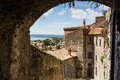 Old houses in medieval town bolsena italy buildings Stock Photos