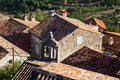 Old houses in motovun croatia topview of the medieval city Stock Photo