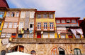 Old houses of ribeira porto portugal typical terraced on the district quayside overlooking the river douro are traditionally Royalty Free Stock Photography