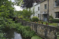Old Houses beside River Frome Royalty Free Stock Photo
