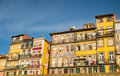 Old houses on riverbank of duoro in porto colorful Royalty Free Stock Photos