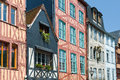 Old houses in rouen a summer day Royalty Free Stock Images