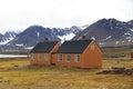 Norway, Spitsbergen/Ny-Ålesund: Two London Houses Royalty Free Stock Photo