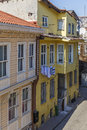 Old houses in a street in Istanbul Royalty Free Stock Photo