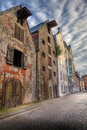 Old houses on the street of Riga. Royalty Free Stock Image