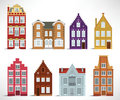 Old houses vector illustration of Stock Photo