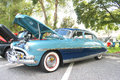 Old hudson hornet car the at the show Royalty Free Stock Photography