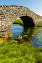 Old Hump Back Bridge, Aberffraw, Anglesey. Royalty Free Stock Photo