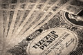 Old Hungarian  money with stamp Royalty Free Stock Photo