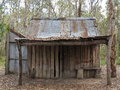 Old hut desolate a small in the countryside a remainder of the australian colonization era Royalty Free Stock Photos