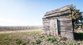 Old hut at a field near rome italy Royalty Free Stock Photos