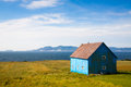 Old hut near ocean Royalty Free Stock Photo