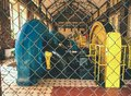 Old hydro power generators at Lesna Dam , Poland Royalty Free Stock Photo